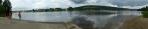 Panorama Lipna a Frymburku od přívozu ve Frýdavě