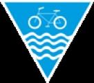 """Logo cyklostezky, které je vylepeno po trase na rozcestnících """"normálních"""" číslovaných cykloturistických tras (převzato z greenways.cz)."""