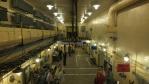 hlavní montážní hala, 3 metry betonu nad hlavou, stěny jsou ještě silnejší ...