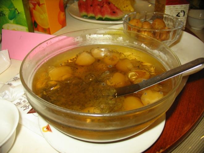 A sladká ovocná polévka na konec