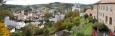 Panorama z terasy zámku.