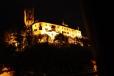 Po setmění svět se mění a s ním i pohled na hrad Rožmberk.