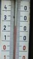 naštvanost na zdejší poměry (je lepší české slovo) ani nemůže vychladnout, tohle byla teplota v cca 1111 metrech na boudě horské služby, pochopitelně ve stínu ...