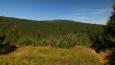 tam někde jsme šli, nenápadný kopec je Koruna 1101 mnm a vedle hřeben Vápenného vrchu, který je o 9 metrů nižší ...