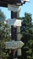 Pěticestí 1004 mnm, dost důležitá křižovatka turistických cest ...