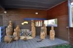 Modrava. Krátké zastavení ve zdejším dřevařském muzeu.