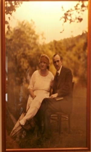 Dobová fotografie manželů Benešových