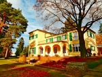 Vila v celé své podzimní kráse
