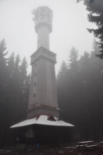 Klostermannova rozhledna na Javorníku (1 066 m n. m.).