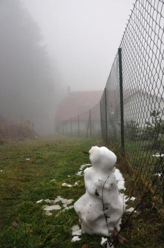 První sněhulák.