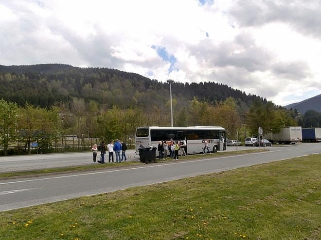 Zastávka v Rakousku