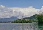 Blejski Otok uprostřed Bledského jezera