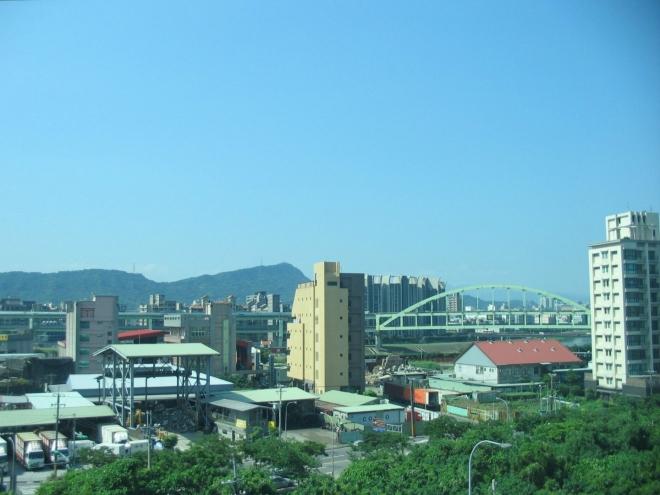 Průmyslová oblast někde na okraji Tchaj-peje