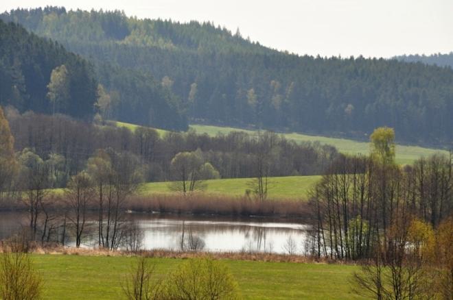 Jeden ze šesti střemilských rybníků.
