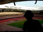Moje maličkost na stadionu (trochu proti světlu)