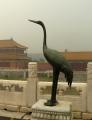 Čáp s nadhledem pozoruje spousty Číňanů.