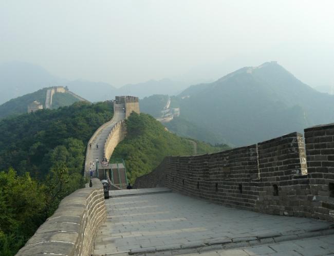 I v detailech zvlněná zeď