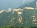 Čínská zeď krásně kopíruje hřeben