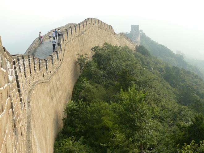 Zeď z boku ze strážní věže