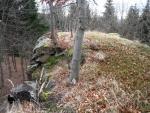 Na skále je místo jako stvořené pro staré Kelty. Pod ní se nakonec našla stříbrná žebra a tak zde v minulosti mohli lidé přebývat.