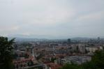 Výhled z Lublaňského hradu na severovýchod
