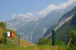 Julské Alpy severně od Tolminu