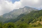 Hřeben Julských Alp s vrcholem Krn (2244 m)