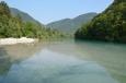 Řeka Soča v Tolminu, Slovinsko