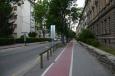 Typická ulice v severní části Mariboru