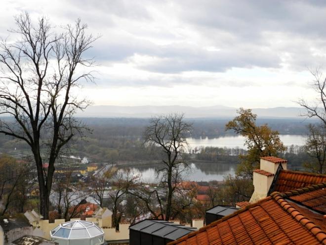 Výhled k Munickému rybníku a Blanskému lesu.
