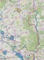 Mapka cyklotrasy Hluboká - Purkarec - tvrz Býšov - Dříteň- Dívčice.