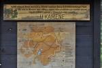 Mapa na odpočívadle U kamene.