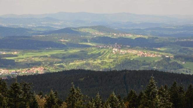 Bavorsko směrem na Freyung.