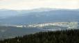 Heidmihle, v pozadí Knížecí stolec a zcela vlevo Chlum. Nižší hřeben jsou Jelení vrchy s Jelenskou horou.