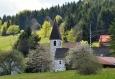 Kostel v Philippsreutu nás vítá již z dálky. Kruh se uzavřel...