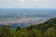 Výhled z rozhledny na Pohorje poblíž Mariboru