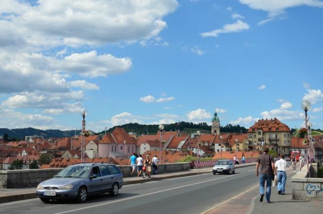 Klasický pohled na Maribor se jen tak neokouká, tak tedy ještě jeden podobný tomu z rána.