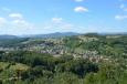 Výhled na město Rogaška Slatina z vrchu Janina, Slovinsko