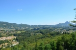 Výhled na krajinu severovýchodně od města Rogaška Slatina z vrchu Janina, Slovinsko