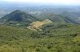 Výhled z Boče na jihozápad až západ, Slovinsko