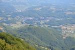 Výhled z Boče na město Rogaška Slatina, Slovinsko