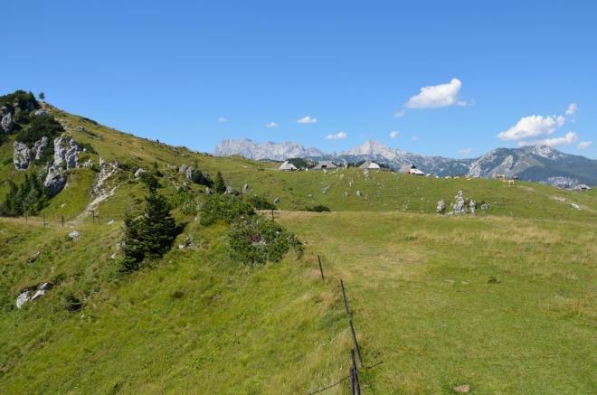 Teď se vydáme nahoru po této hraně, jež představuje západní okraj planiny.