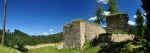 Ruiny hradu Pořešín dotváří malebný kout nad řekou Malší.