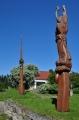 Skulptury u tvrze Žumberk.