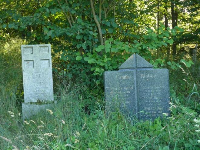 Na kopečku, kde spíme jsou za lesíkem také dva hroby.