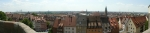 Panorama Norimberku z hradu