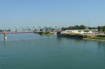 Pohled do Německa z mostu přes hranici