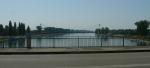 Rýn na jih od mostu