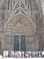 Vchod do katedrály ve Štrasburku