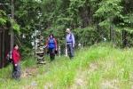 Na vrcholu Homole (1 044 m n. m.) stojí štíhlý kamenný mužík.